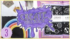 Create This Book Episode (Moriah Elizabeth) Drawing Prompt, Drawing Tips, Squishy Videos, Draw With Jazza, Sketchbook App, Create This Book, Art Journal Prompts, Drawing Tablet, Wreck This Journal