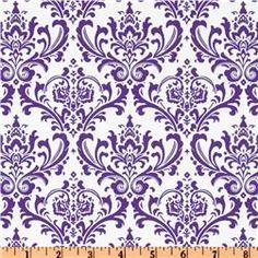 Madison Twill Candy Purple/White