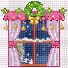105 Free cross stitch designs window views stitchingcharts borduren gratis borduurpatronen ramen uitzichten kruissteekpatronen
