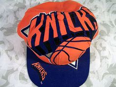 Sold VINTAGE 100% NBA AUTHENTIC NEW YORK KNICKS SNAPBACK HAT 1993 BY THE GAME Nba Hats, New York Knicks, Snapback Hats, Old School, Cap, Vintage Hats, Angeles, Stuff To Buy, Logos
