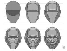 "Drawing Techniques anatoref: "" Head Drawing Tutorial (Based on Steve Houston's Method) Top Image Row 4 Human Face Drawing, Drawing Heads, Life Drawing, Figure Drawing, Drawing Faces, Head Anatomy, Anatomy Drawing, Anatomy Art, Anatomy Reference"