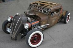 Hemi powered Rat Rod, TerraPlane grill shell and Whites always look great.