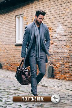 A grey overcoat and grey dress pants will showcase your sartorial self. Dark brown leather oxford shoes will add elegance to an otherwise simple look. Fashion Moda, Suit Fashion, Mens Fashion, Street Fashion, Luxury Fashion, Mode Masculine, Stylish Men, Men Casual, Smart Casual