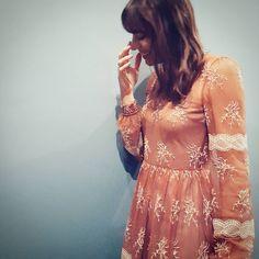 Winter Lace - Blugirl Fall Winter 2015/2016 • Italian actress Giorgia Sinicorni in an embroidered tulle dress.