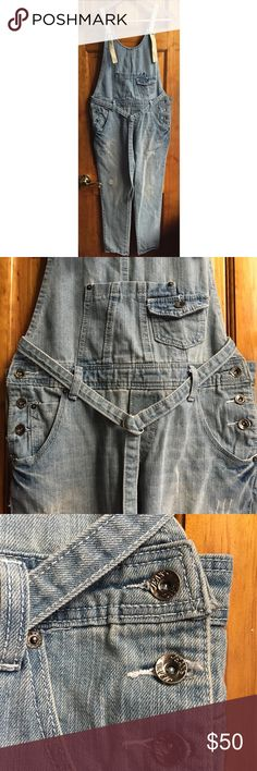 """30%OFF BUNDLES Vintage Denim Overalls EUC Super cute denim overalls! Just pair them up with your white sneakers and best sunglasses and rock your weekend style! 🤛🏼 Unique tan straps and denim belt. Waist:17"""" Inseam:27"""" Hips:18.5"""" All measurements are taken with the item laid flat.  Excellent Used Condition Material:See photos Color:Blue 30% off on bundles. I ship same-day from pet/smoke-free home.Buy with confidence.I am a top seller with close to 700 5-star ratings and A LOT of love…"""