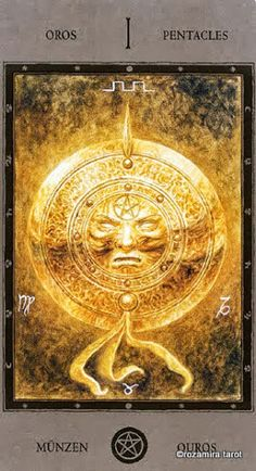 Ace of Pentacles - Luis Royo -The Labyrinth Tarot - Rozamira Tarot - Picasa Web Albums