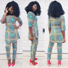 Hello ladies, take a look at these trending and matching ankara pants and tops. They're very stylish and could be worn to different kinds of occasions.