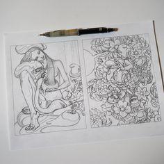 Sketches for Udon and Bouquet #sketch #process #prelims #udon #bouquet #superflatxjuxtapoz