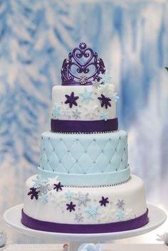 Original pastel para fiesta temática Frozen