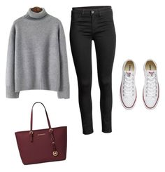 """""""Lazy Mom 😂❤️"""" by gkbliss on Polyvore featuring Converse and Michael Kors"""