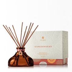 Love this New fragrance by Thymes! Gingerbread is available in fragrance mist, candles and mini diffuser. www.coastalgiftsanddecor.com