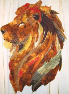 Profile Male Lion by Jenny Lankester