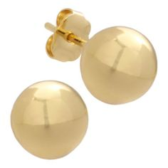 Polished Gold Over Brass Ball Stud Earrings   found at @JCPenney