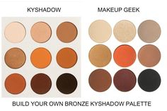 So Kylie Jenner's Bronze Kyshadow Palette  sold out in one minute, is what I am hearing, it costs $42 and has a gorgeous assortment of ma...