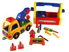 Take A Part Tow Truck & Tool Box Set $25