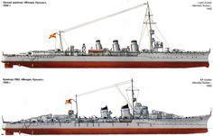Crucero Ligero Méndez Núñez 1930 y 1950