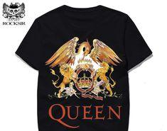 766e855ea31 Hot Offer Rocksir 2017 New Rock Band QUEEN Printed Men T-shirt Fashion Cotton  Tops