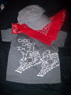 Choo Choo, I'm 2 - birthday outfit for train party