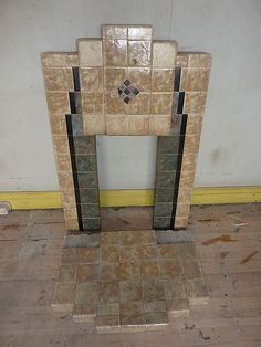 Art Deco Tiled Fire place and hearth - 1930s | eBay