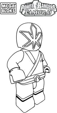 lego power rangers samurai coloring pages 1