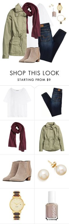 """""""*read d*"""" by oliveee-heinzzz ❤ liked on Polyvore featuring Acne Studios, American Eagle Outfitters, H&M, Augusta, Kate Spade, Essie and Alex and Ani"""