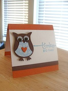 Owl Always Love 3x3 Cards by girlgeek101 - Cards and Paper Crafts at Splitcoaststampers