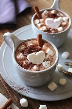 White hot chocolate with dark chocolate whipped cream piped on the top. It's a chocolate-fest that is a warm and would make a perfect after Christmas dinner dessert. Coffee Love, Coffee Break, Hot Coffee, Coffee Girl, Coffee Corner, Drink Coffee, Coffee Creamer, Black Coffee, Iced Coffee