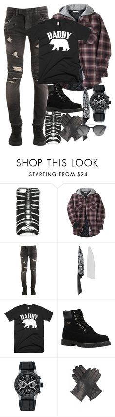 """""""daddy"""" by devilishme ❤ liked on Polyvore featuring Marcelo Burlon, Other, Balmain, Williams-Sonoma, Lugz, TAG Heuer, Dents, Dolce&Gabbana, men's fashion and menswear"""