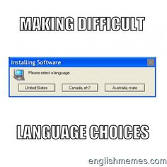 EnglishMemes.com - Meme generator for teachers and learners of English Like, share, or create your own! English Memes, Esl, Choices, Language, Create, Board, Funny, Languages, Funny Parenting