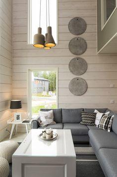 Housing Fair Finland, Jyväskylä 2014 Cabin Homes, Log Homes, Modern Farmhouse Decor, Rustic Farmhouse, Sauna House, Boudoir, Cabin Interiors, Cottage Design, House Goals