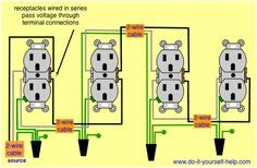 wiring diagram for a row of receptacles Multiple