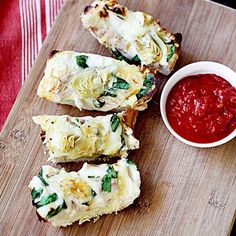 Chicken, spinach & artichoke French bread!