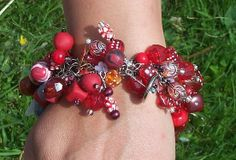 Crimson Love Red Charm/Junk Bracelet by ErikasChiquis on Etsy