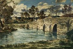 March Morning, Newby Bridge, Cumbria by Claude Muncaster Sunderland Museum & Winter Gardens Date painted: 1950 Oil on canvas, x 75 cm Collection: Sunderland Museum & Winter Gardens Art Uk, Sunderland, Cumbria, Winter Garden, Your Paintings, Oil On Canvas, Bridge, March, Museum