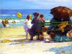 A Family Outing - Edward Henry Potthast (1857-1927)