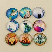 New Design Mix Cameo Cabochon Glass Beads 25mm