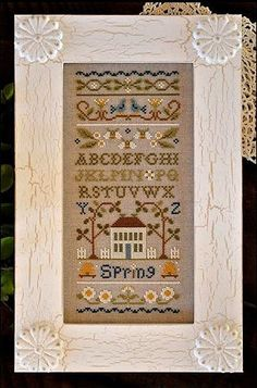 cross stitch pattern charms : Spring Band Sampler Little House Needleworks counted cross stitch. $13.60, via Etsy.