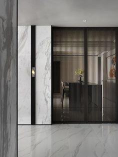Rimadesio sail schuifdeur met profielen in gefineerd walnotenhout en grigio glas. Interior Walls, Home Interior, Modern Interior Design, Interior Architecture, Fashion Architecture, Contemporary Interior, Partition Screen, Partition Design, Screen Doors