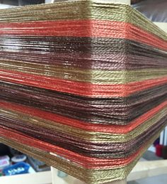 Weaving kit-kitchen towels, table runner, placemats-Floor loom-Hand woven-Striped by Lotsaknots on Etsy