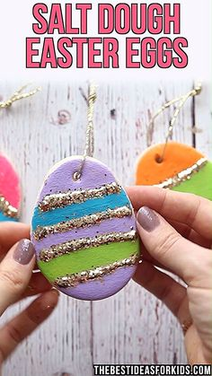 Easter Decorations 415034921910544836 - SALT DOUGH EASTER EGGS – this is such a fun Easter craft for kids! Kids can decorate their own salt dough Easter eggs. Source by Easter Projects, Easter Crafts For Kids, Diy For Kids, Easter For Babies, Easter With Kids, Crafts For Children, Spring Crafts For Preschoolers, Easter Ideas For Kids, Easter Egg Hunt Ideas