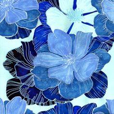 #голубой#акварель#цветы#цветочки#синий#flower#watercolor