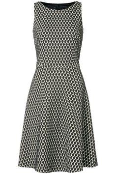 A-lijn jurk met patroon Zwart