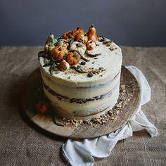 Vegan spiced pumpkin layer cake
