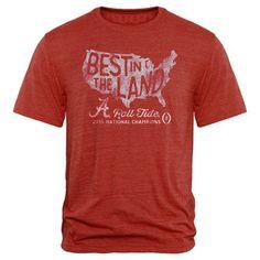 Alabama Crimson Tide Crimson College Football Playoff 2015 National Champions Pride Tri-Blend T-Shirt