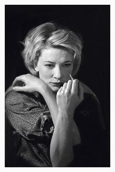 "Cate Blanchett in Plenty at the Albery in 2000. 'To photograph actors when they are ""getting into character"" is to see them at their most photogenic as you can see why they have been attracted to this particular thrill of becoming another,' adds Annand.  For the last 25 years, top actors have allowed theatrical photographer Simon Annand into the private sanctums of their dressing rooms, capturing them as they prepare to go on stage.   The Half is on at the Idea Generation in Shoreditch, 24 F..."