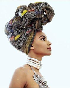 Foulard sur cheveux naturels