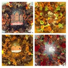 Fall wreaths made so far!