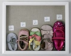 Frame your child's favorite shoe and watch them as they grow!