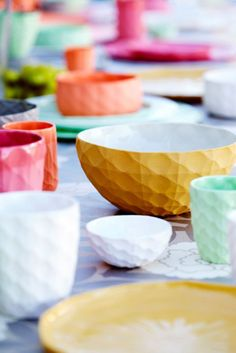 brightly colored porcelain