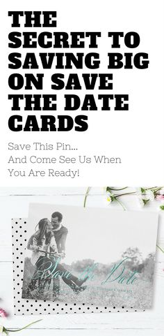 Save the Date Cards & Wedding Invitations don't have to bust your budget. Save this pin and when the time is right and you're ready to buy...visit us and save 40%...yes 40% Off your Save The Date Cards!